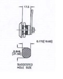 quarter turn latch SQ118-1