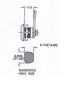 quarter turn latch- SQ118-7